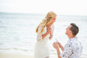 Proposing on a Beach in Hawaii
